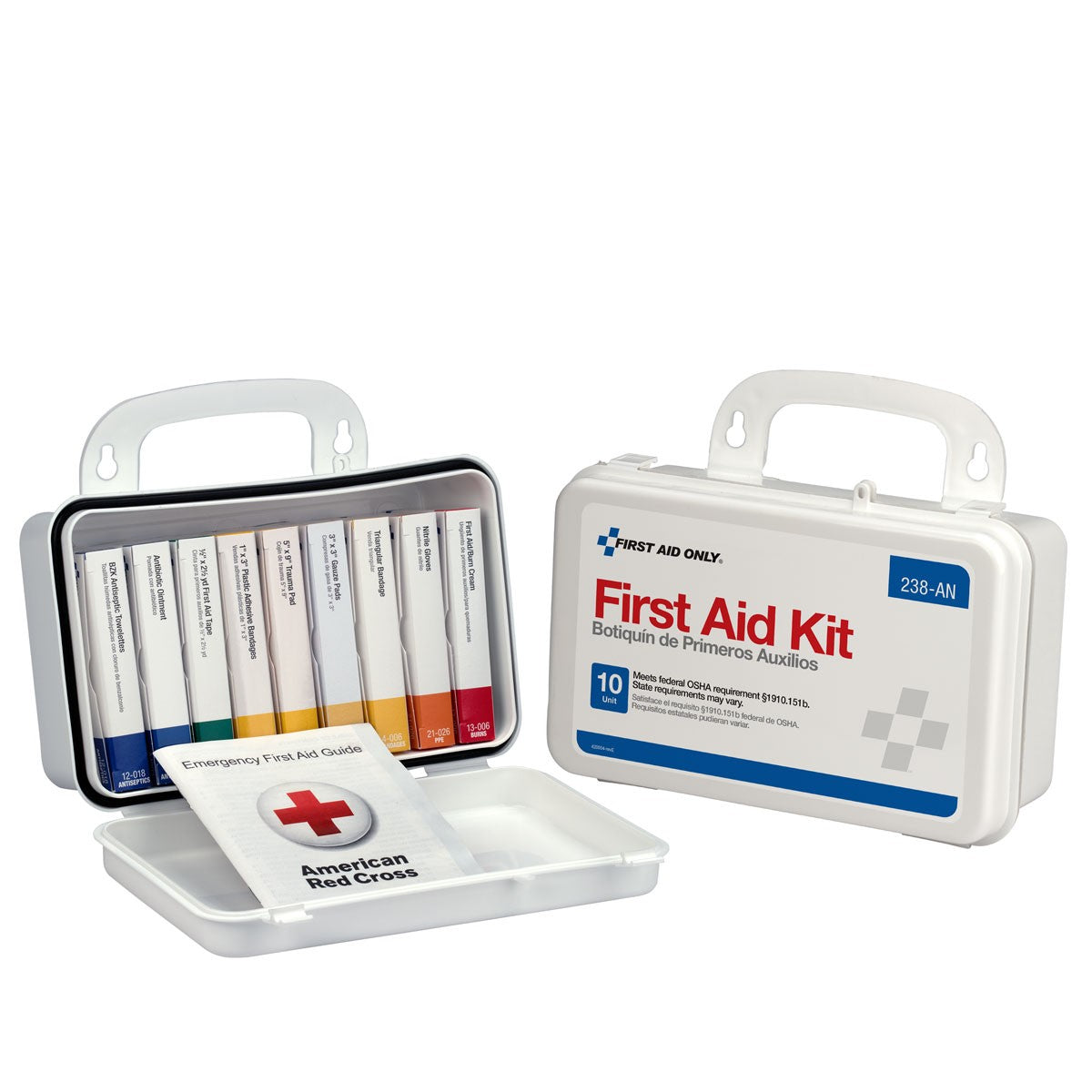 10 Unit First Aid Kit, Plastic Case - BS-FAK-238-AN-1-FM