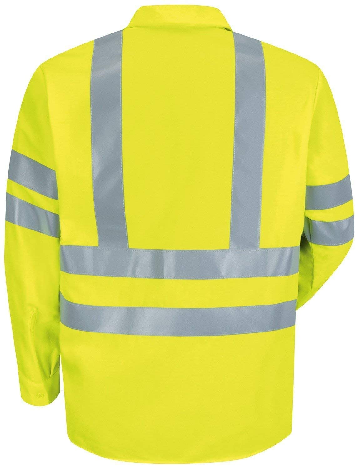 Brite Safety Style 240 Long Sleeve Safety Work Shirt with Pocket - ANSI Class 3 Compliant - Moisture Wicking Shirt for Men & Women