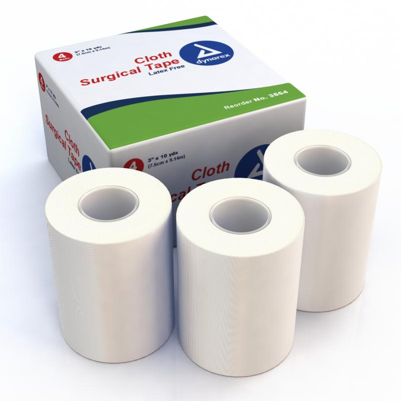 "Dynarex 3564, Surgical Tape Cloth, 3""X10 Yds - 12/4/Cs - BS-SM-3564-1-FM"