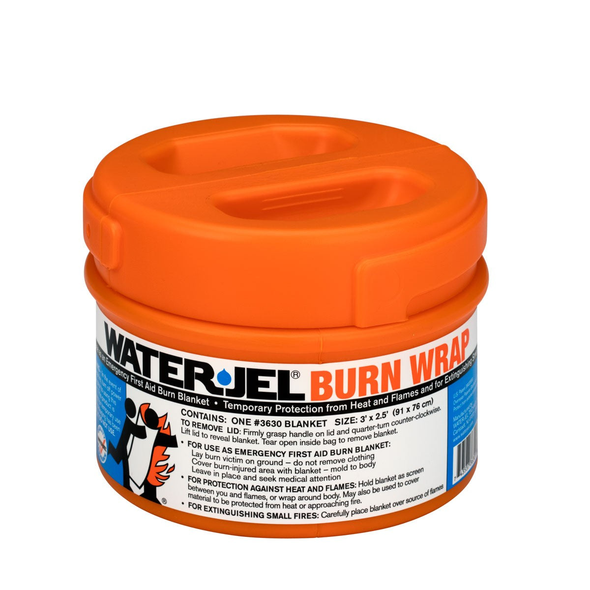 "36""X30"" WaterJel Burn Wrap Canister - BS-FAK-3630-1-1-FM"
