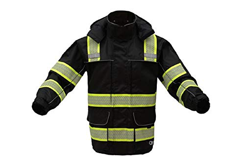 3-IN-1 Performance Winter Parka Jacket with Reflective Tape - Removable Safety Hi Vis Hoodie - High Visibility Jackets for Men or Women