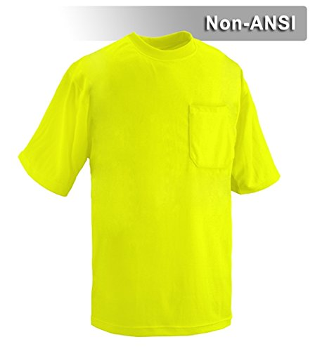 Brite Safety Style 203 Hi Vis Shirt | Short-Sleeve Safety Shirt with Pocket | Non-ANSI | Lightweight Birdseye Moisture Wicking Shirt for Men & Women (2X-Large, Hi Vis Yellow)