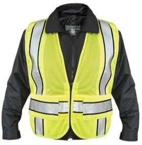 Brite Safety Style 2009 Public Safety Vest | Hi Vis Vest | 5-point Breakaway | Tactical | Lime Yellow Polyester Mesh | ANSI Compliant | for Men & Women (3XL-4XL)