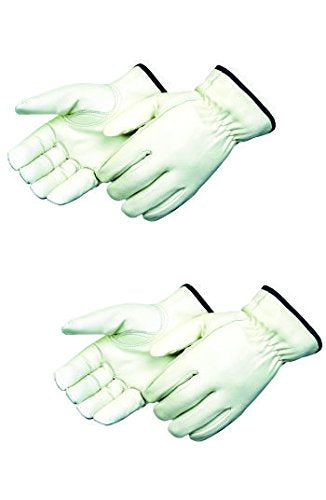 Grain Leather Driver Work Gloves With Keystone Thumb, Extra Large, (Pack of Two Pairs)