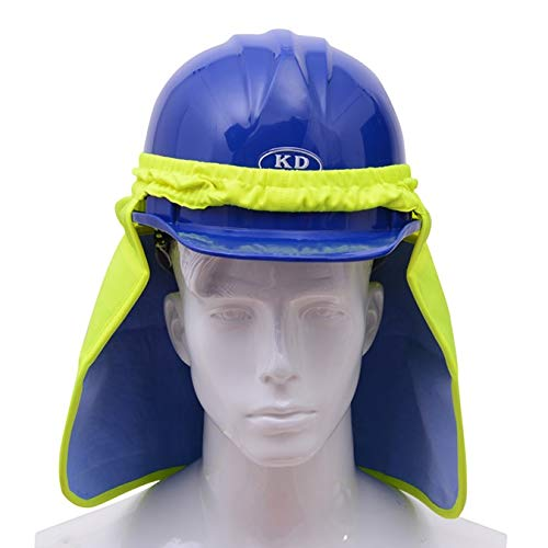 Brite Safety Hard Hat Birdseye Neck Shade with PVA Cooling - Adaptable on All Helmets and Hard Hats (Lime)