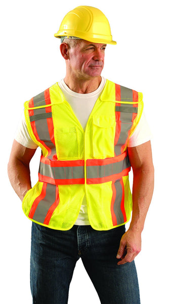Premium Mesh Two-Tone Expandable - XL/2XL / Fluorescent Yellow