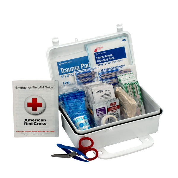 10 Person First Aid Kit, Weatherproof Plastic Case - BS-FAK-6060-1-FM