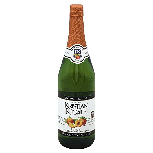Kristian Regale Sparkling Beverages, Peach, 25.4-ounce Bottles (Pack of 12)