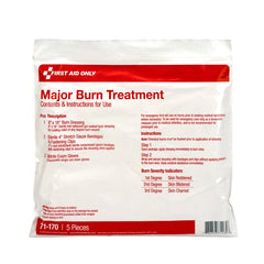 5 Piece First Aid Triage WaterJel Severe Burn Treatment Pack , First Aid Triage Pack - Severe Burn Treatment - BS-FAK-71-170-1-FM
