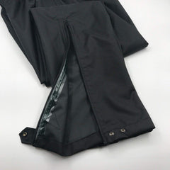 Brite Safety Style 5485 Black Rain Pants Made With Durable Waterproof Windproof Breathable Nylon Oxford Fabric - Comfortable Pants With Side Openings, Elastic Waistband And Adjustable Cuffs (2XL-Long)
