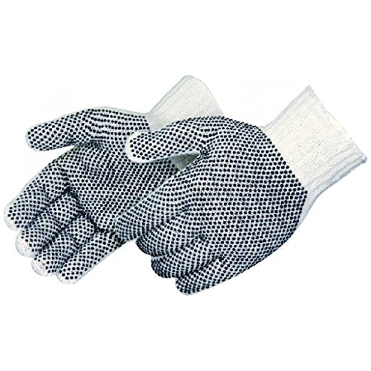 Cotton Polyester Dotted Work Gloves (Pack of 12 Pairs)