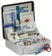 50 Person Bulk First Aid Metal Kit, Weatherproof ANSI A+, Type III