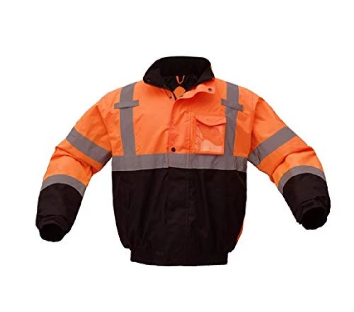 Bomber Jacket | Hi Vis Bomber Jackets | Waterproof | Quilt-Lined | ANSI Class 3 Compliant | Men or Women
