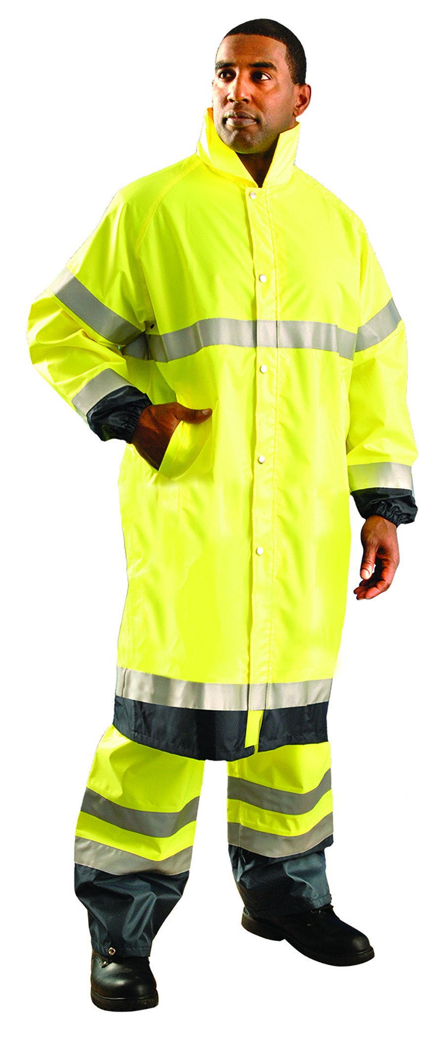 Premium Breathable Jacket - L / Fluorescent Yellow