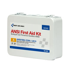 25 Person 16 Unit ANSI A First Aid Kit, Steel, Weatherproof - BS-FAK-90568-1-FM