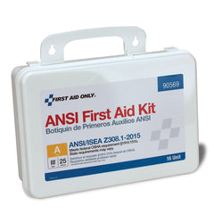 25 Person 16 Unit First Aid Kit, Plastic, Weatherproof, ANSI A,Type III - BS-FAK-90569-1-FM