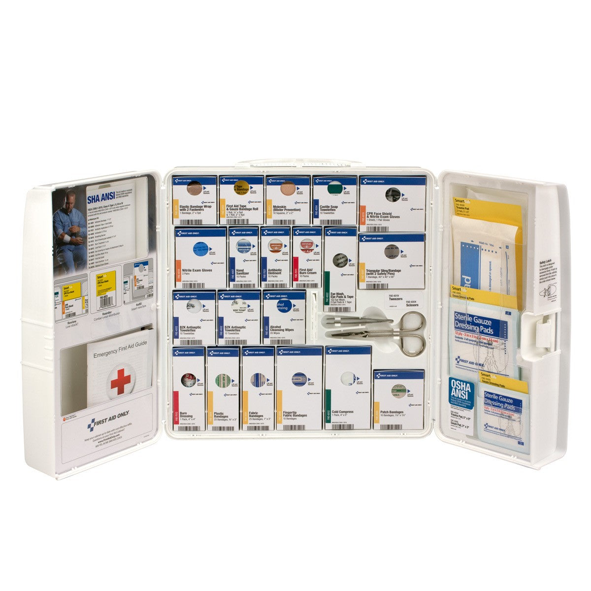 50 Person Large Plastic SmartCompliance First Aid Cabinet Without Medications
