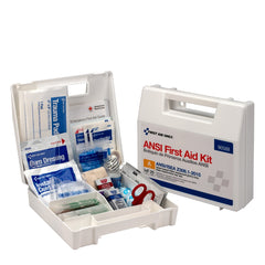 25 Person Bulk Plastic ANSI A, First Aid Kit With Dividers - BS-FAK-90588-1-FM