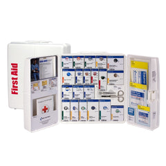 50 Person Large Plastic SmartCompliance First Aid Cabinet With Medications - BS-FAK-90608-1-FM