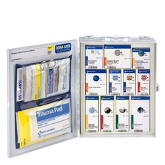 25 Person Medium Metal SmartCompliance First Aid Food Service Cabinet Without Medications
