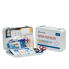 25 Person Vehicle ANSI A+ First Aid Kit, Metal Weatherproof Case - BS-FAK-90672-1-FM