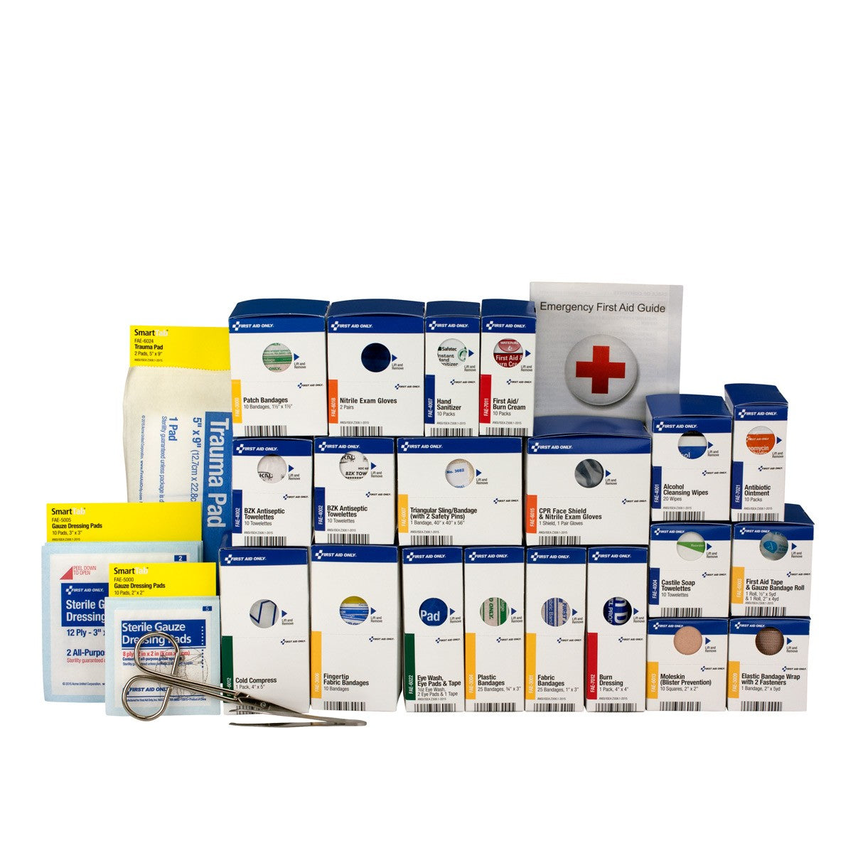 Large SmartCompliance First Aid Food Service First Aid Refill Pack, ANSI A+ Compliant With Medication