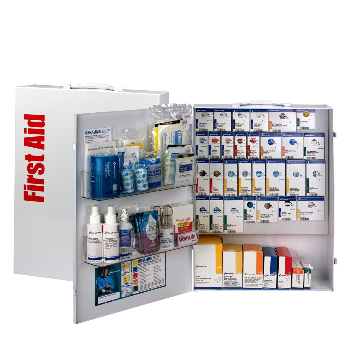 XL Metal SmartCompliance Food Service First Aid Cabinet without Meds