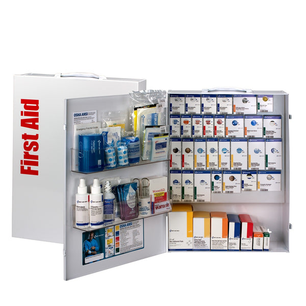 150 Person XL Metal SmartCompliance Food Service First Aid Cabinet Without Medications - BS-FAK-90831-1-FM