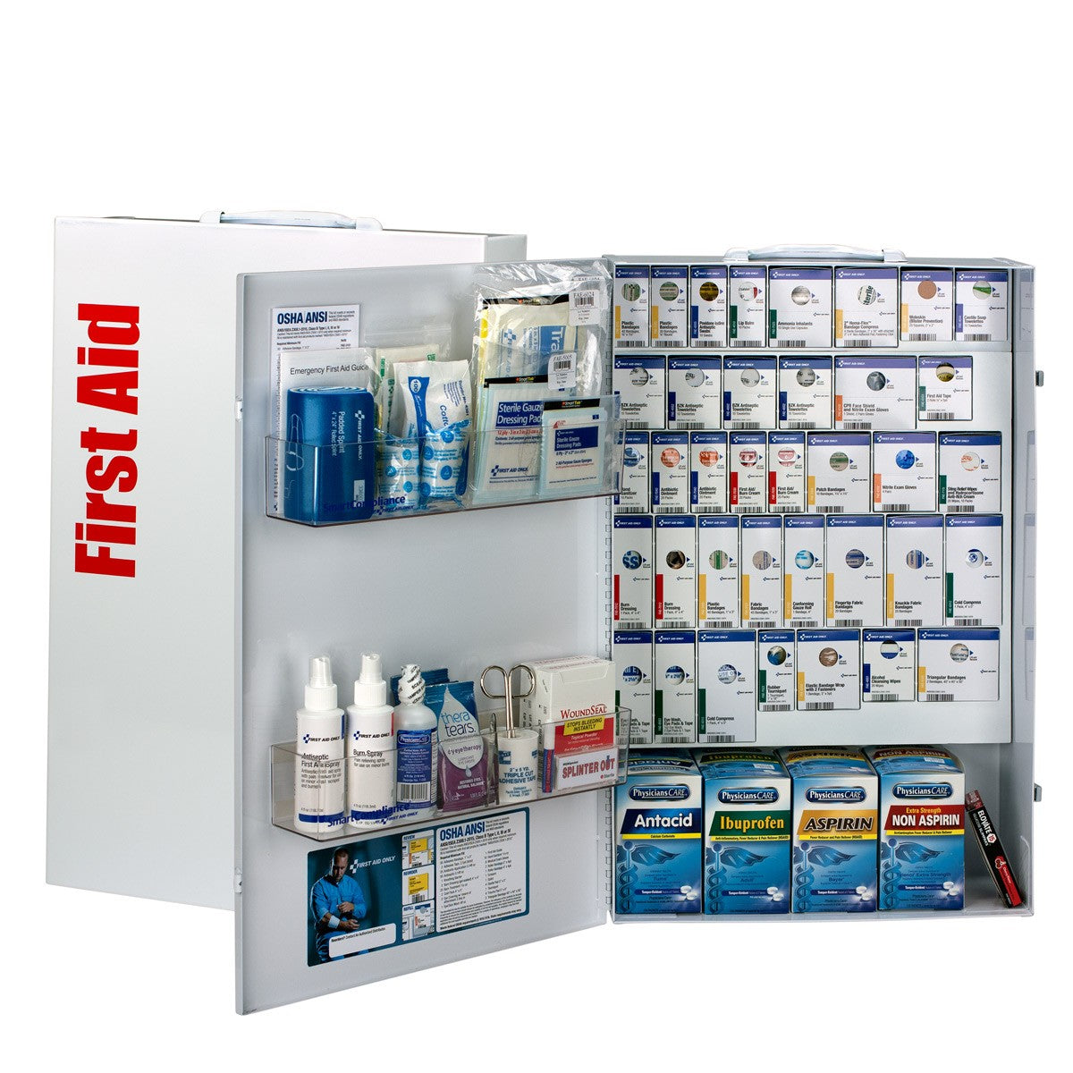 200 Person XXL Metal SmartCompliance First Aid Cabinet With Medication