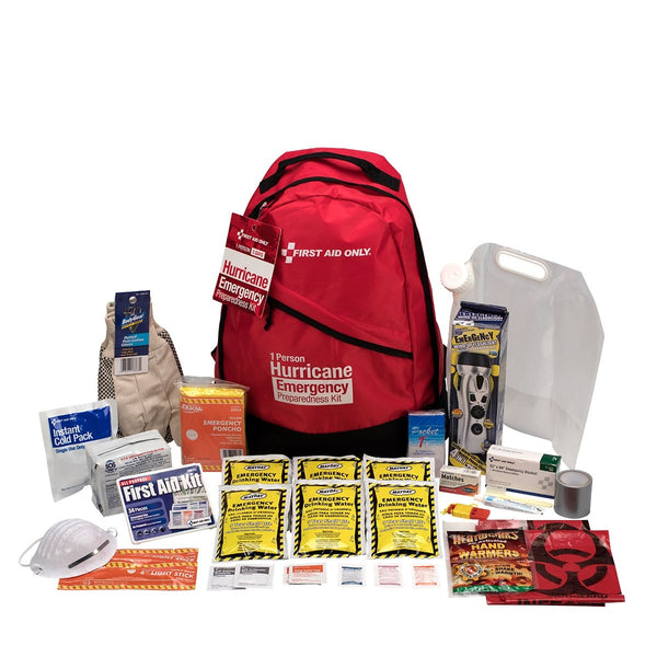 1 Person Emergency Preparedness Hurricane Backpack - BS-FAK-91054-1-FM