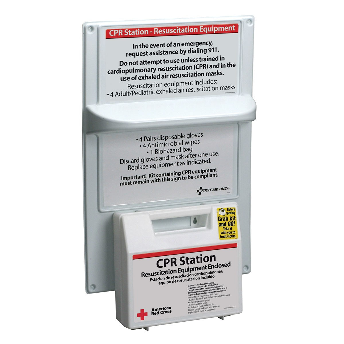 American Red Cross CPR Station - BS-FAK-9145-RC-1-FM