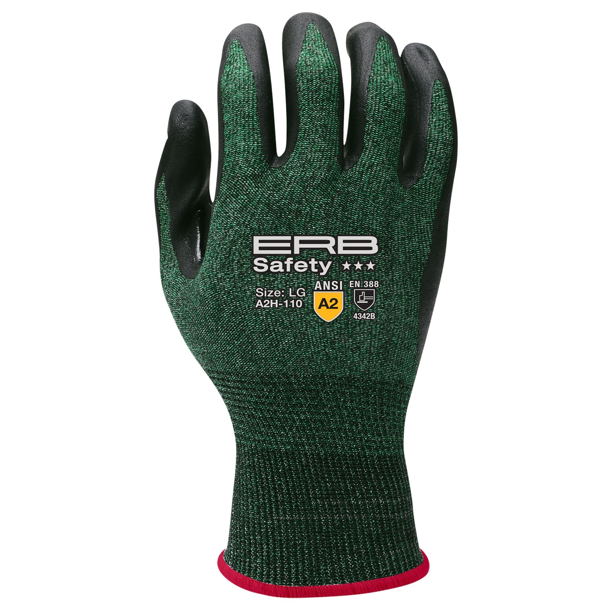 A2H-110 HPPE Cut Glove with Nitrile Micro-Foam Coating 1pair
