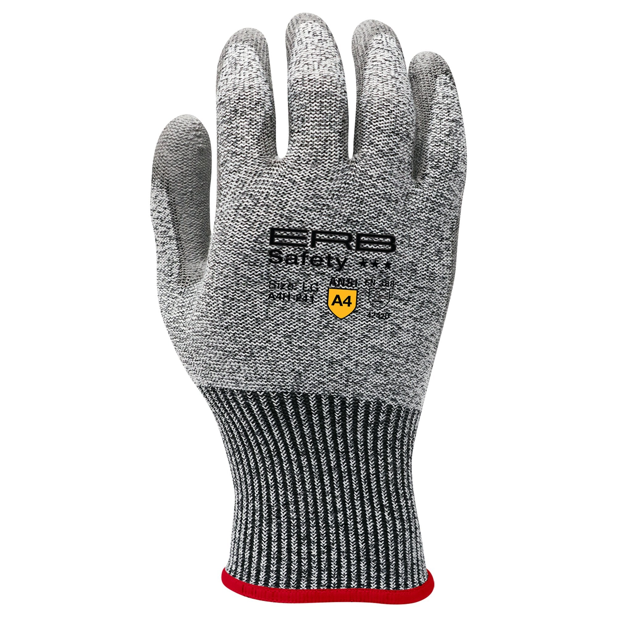 A4H-241 HPPE Cut Glove with PU Coating 1pair