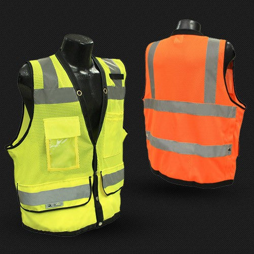Style 1210 - Ansi Class 2 Heavy Duty Surveyor Safety Vest