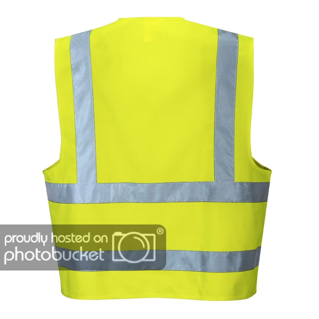Brite Safety Hi Vis Two Band and Brace Vest - ANSI Class 2 Compliant High Visibility Lightweight Reflective Vests For Men and Women