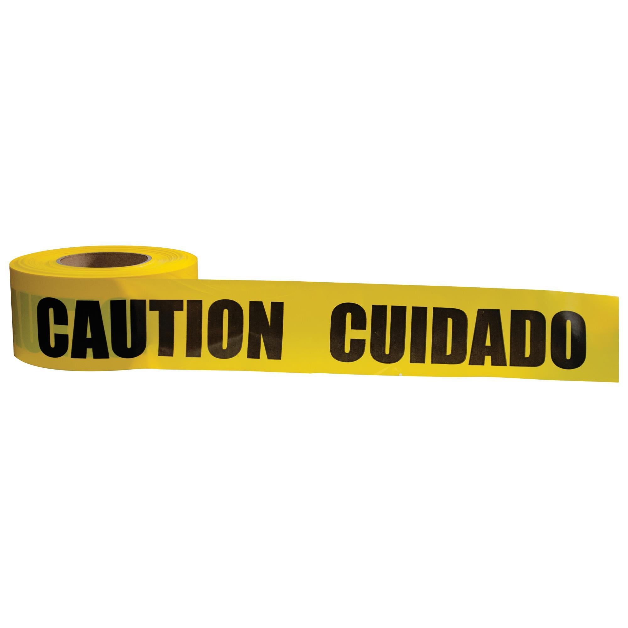 13752 Caution/Cuidado Tape (Sold by Case of 10 rolls)