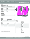 S102 Pink Safety Vest Non-ANSI 1pc