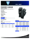 Polyurethane Gloves with Posi-Grip Coating 1pair
