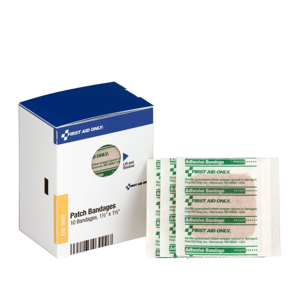 "SmartCompliance Refill 1 1/2""""X 1 1/2"""" Patch Plastic Bandages, 10 Per Box"