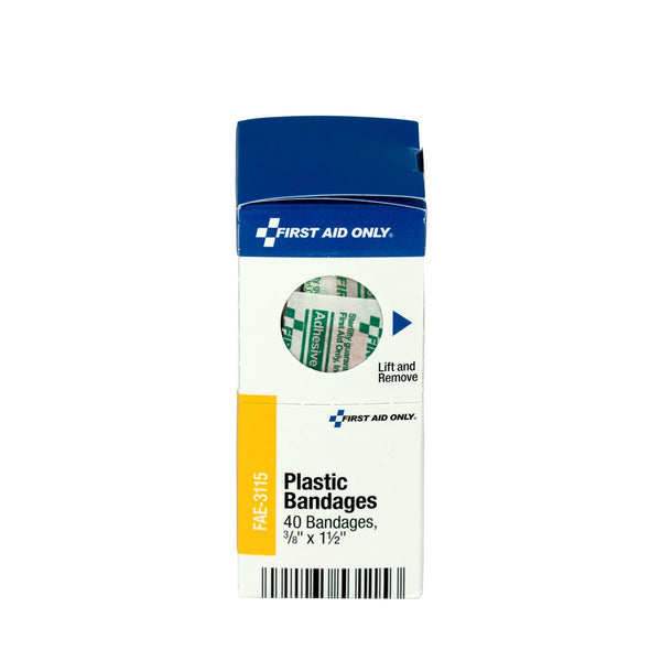 "SmartCompliance Refill 3/8"""" X 1.5"""" Junior Plastic Bandages, 40 Per Box - BS-FAK-FAE-3115-1-FM"