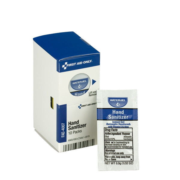 SmartCompliance Refill Hand Sanitizer Packets, 10 Per Box - BS-FAK-FAE-4007-1-FM