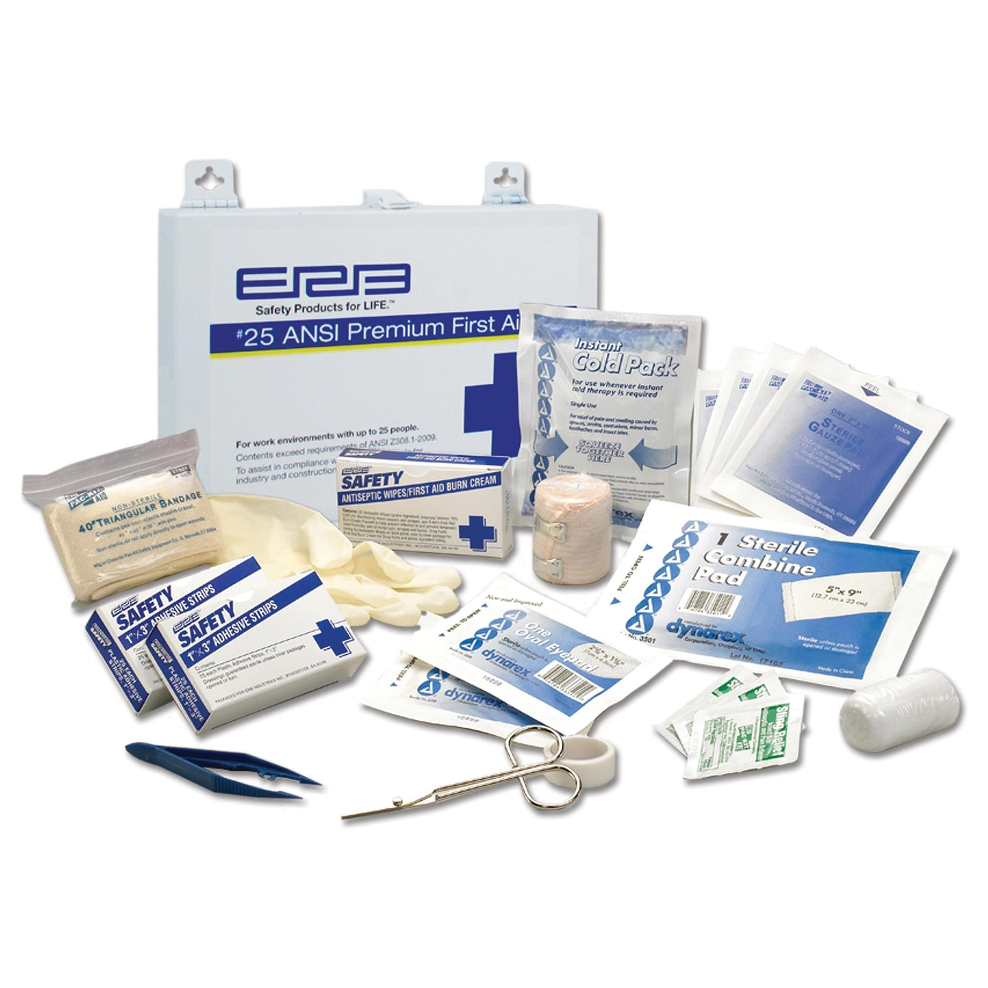 First Aid Kit 25 Piece with Metal Box