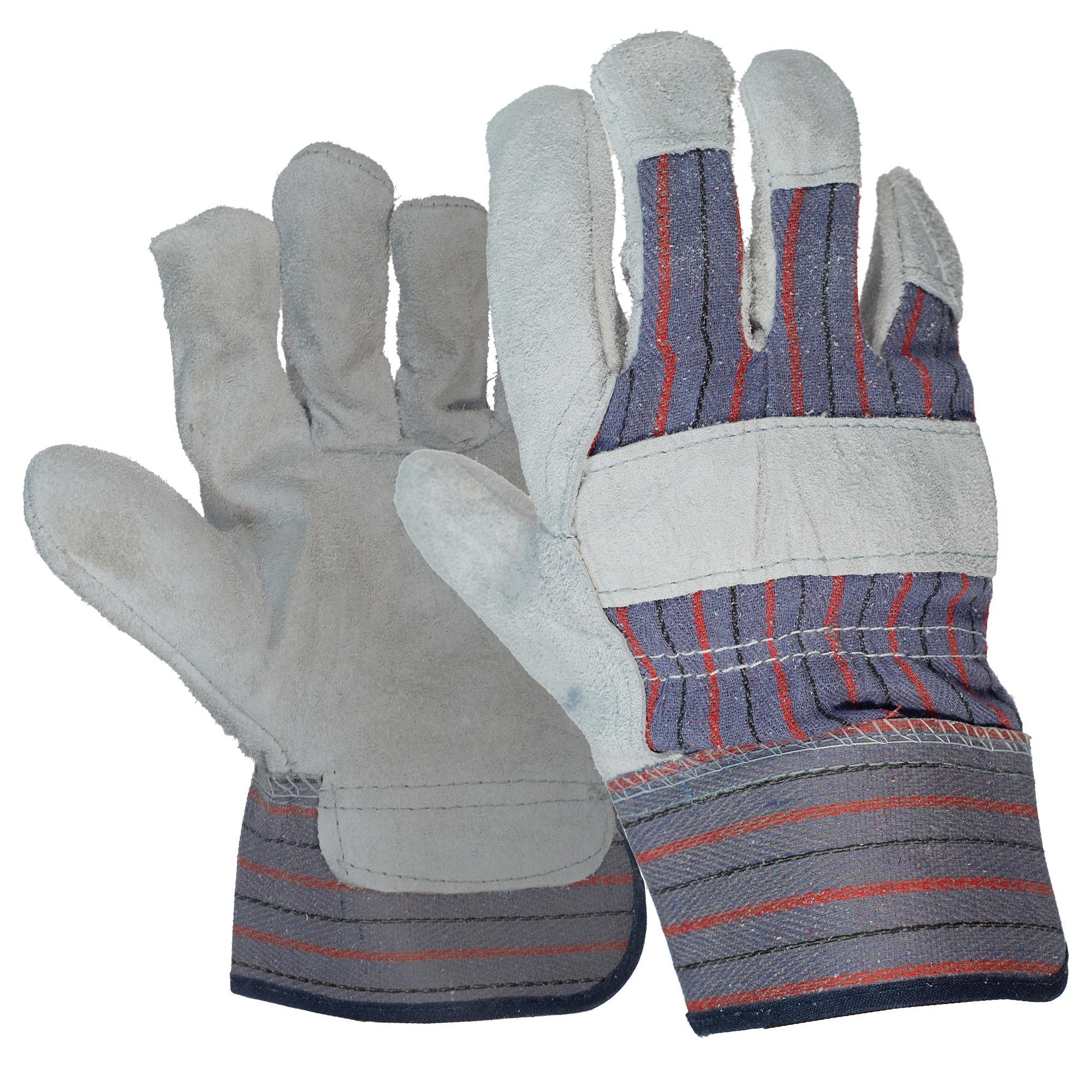 Leather Palm Work Gloves 1pair