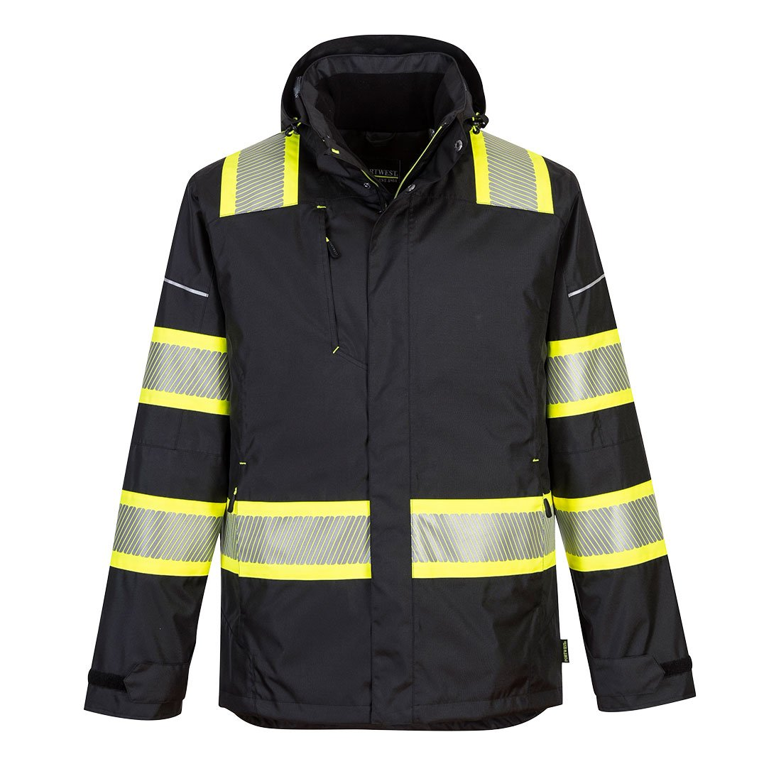 Brite Safety Winter Jacket with Reflective Tape - High Visibility Work Jackets with Detachable Hood