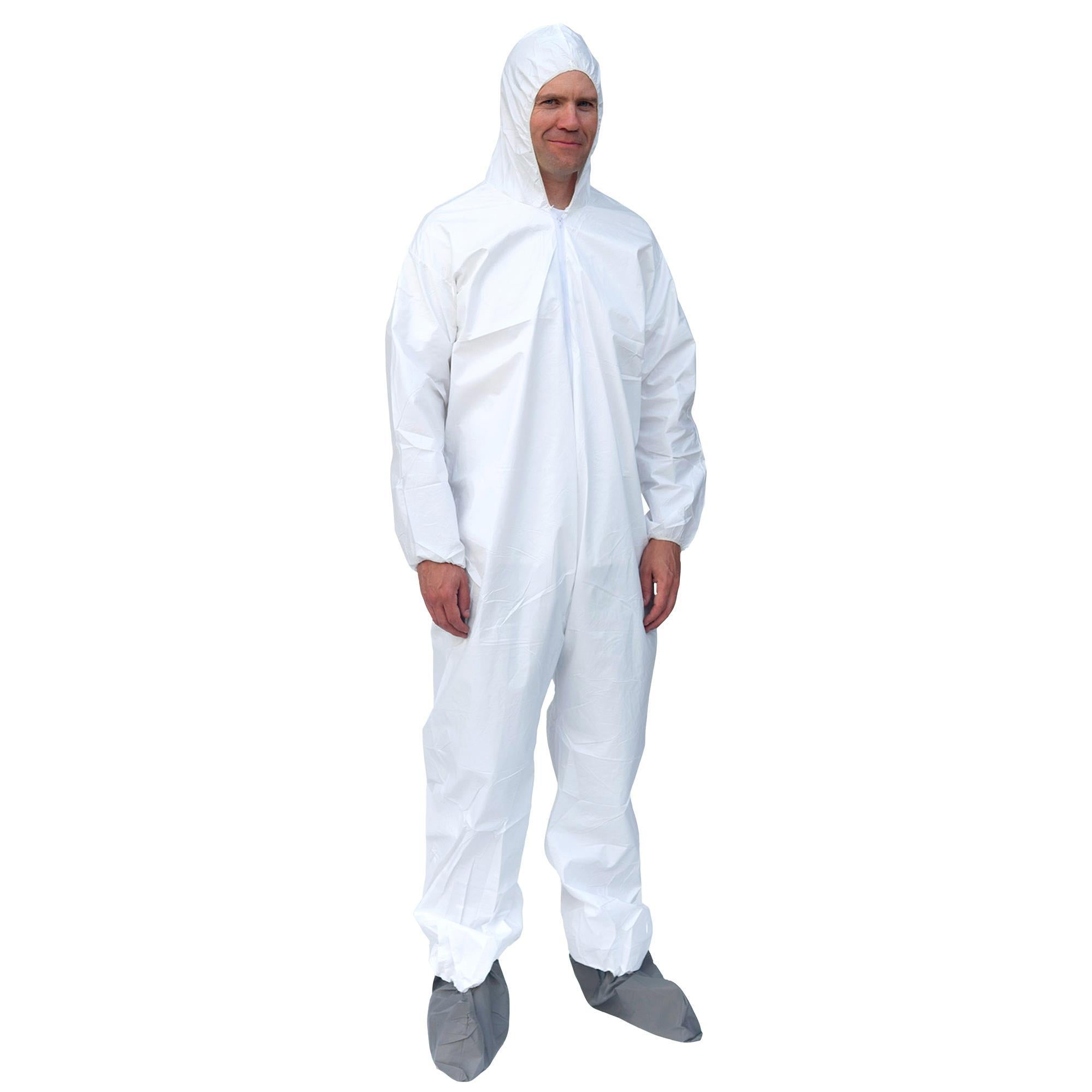 14813 PC261 Zippered Coveralls with Hood and Boot Covers (includes 25 pair of coveralls and boot covers)