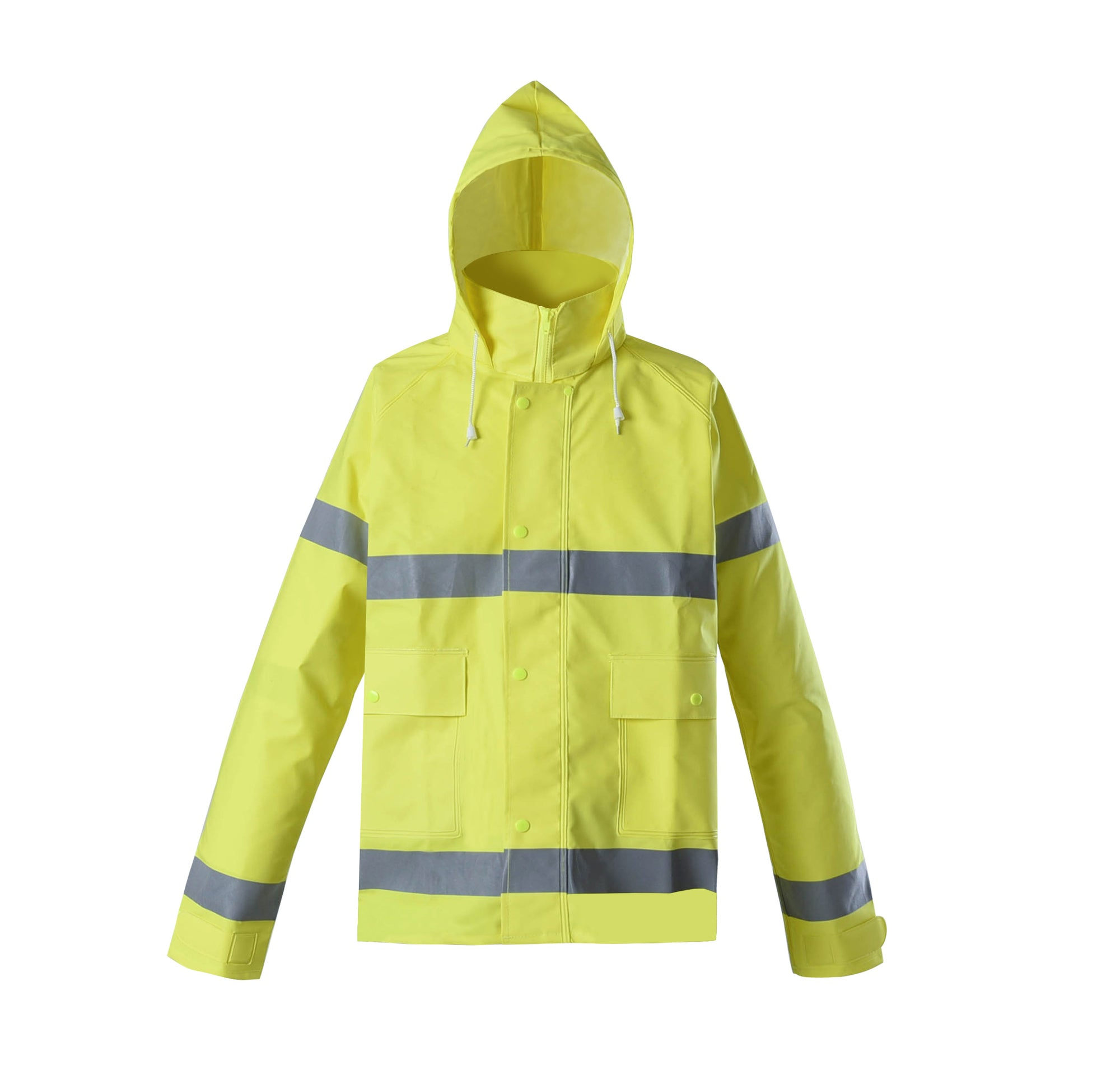 Brite Safety Style 5212 FR Safety Raingear,  Hi Vis Rain Jacket with Hood, Waterproof, ANSI 107 Class 3 Compliant