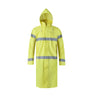 Brite Safety Style 5214 FR Safety Raingear | Hi Vis Raincoat with Hood | Waterproof | Flame Resistant | ANSI 107 Class 3 Compliant