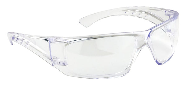 Brite Safety Clear View Glasses - Ultra Lightweight Protective Eyewear with Wrap Around Design - Pack of 3