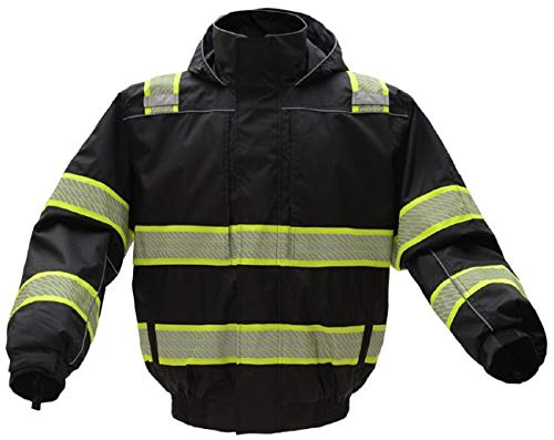 3-N-1 Winter Bomber Jacket | Hi Viz Jackets | Hi Vis Removable Hoodie | For Men or Women