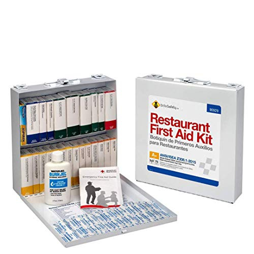 75 Person Restaurant First Aid Kit, ANSI A+, Metal Case - OSHA Emergency Kit Trauma Kit First Aid Kits for Restaurants